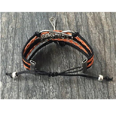 Girls Lacrosse Infinity Bracelet- Orange