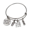 Runner Bangle Bracelet- She Believed She Could So She Did