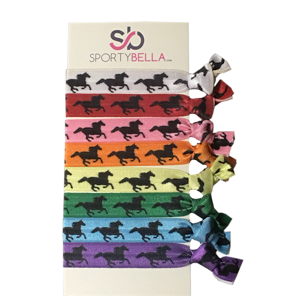 Girls Multi Colored Equestrian Horse Hair Ties
