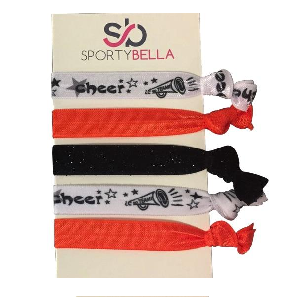 Cheer Hair Ties- Orange - Sportybella