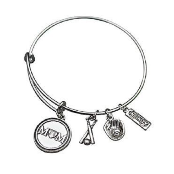 Softball Mom Bangle Bracelet