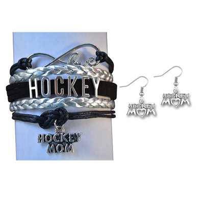 Infinity Hockey Mom Charm Jewelry Set