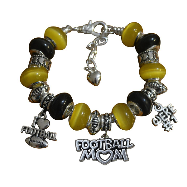 Football Mom Beaded Bracelet - Sportybella