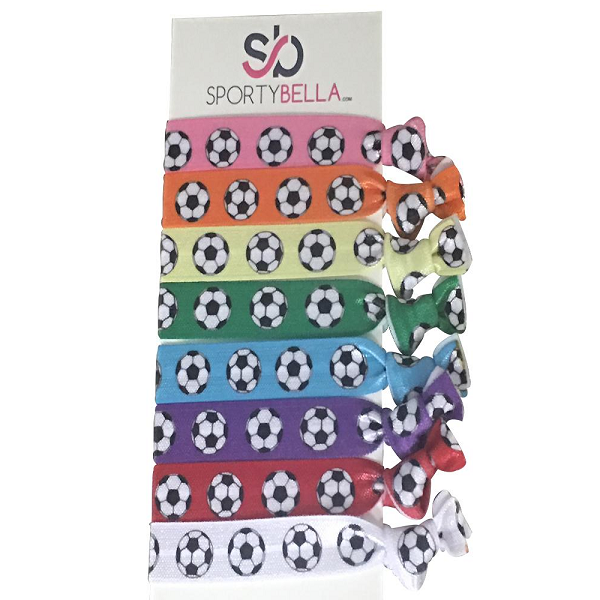 Girls Soccer Hair Ties Set-Multi Colored