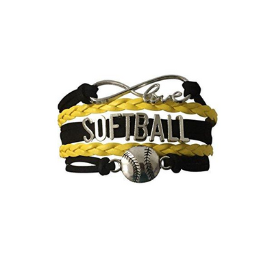 Softball Infinity Bracelet- Yellow