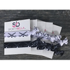 Field Hockey Hair Ties - 5 pack - Black White - Sportybella