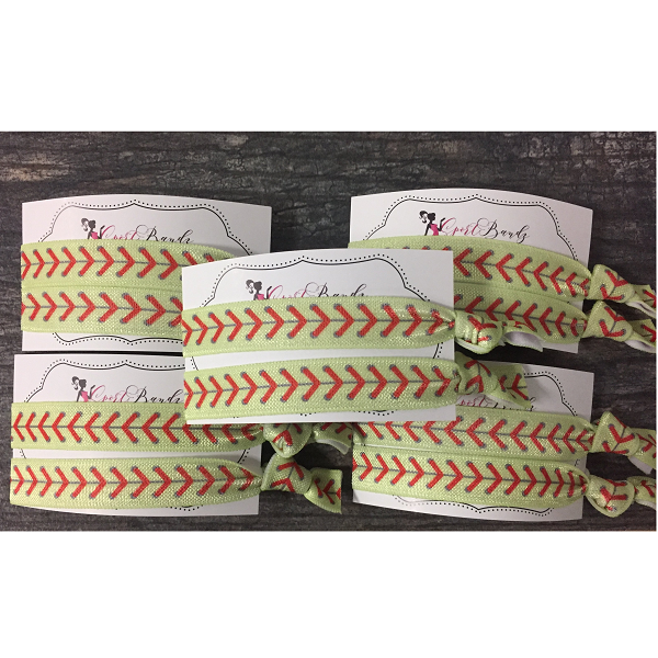 Softball Hair Ties - 5 Sets