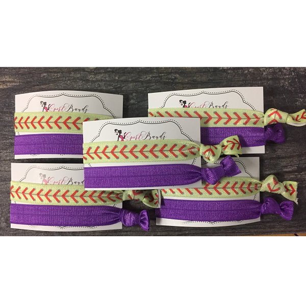 Softball Hair Tie Bundle - 5 Sets