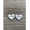 Cheer Heart Charm Earrings - Sportybella