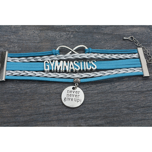 Gymnastics Never Give Up Bracelet