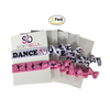 Dance Hair Ties - 5 pack - Pink White - Sportybella