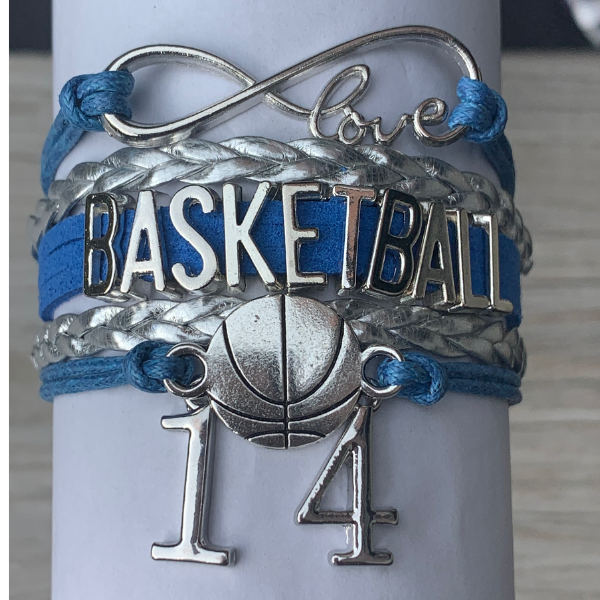 Personalized Basketball Bracelets - 16 Team Colors