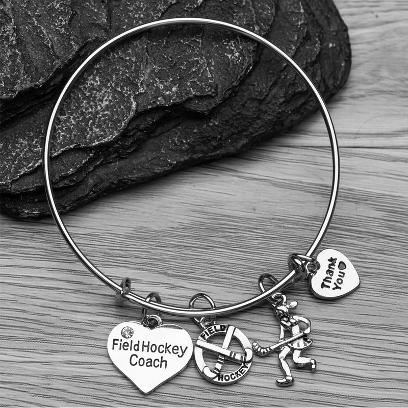 Field Hockey Coach Bangle Bracelet - Sportybella