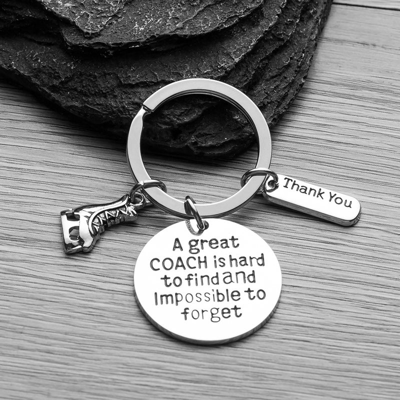 Figure Skating Coach Keychain-A Great Coach is Hard to Find but Impossible to Forget - Sportybella