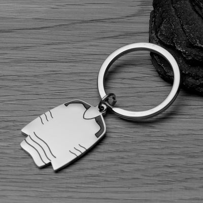 Personalized Engraved Ice Hockey Coach Keychain