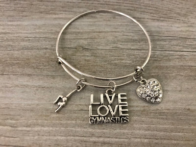 Gymnastics Live Love Bangle Bracelet