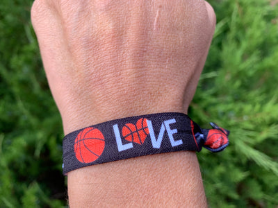 Basketball Hair Ties 2pc Set