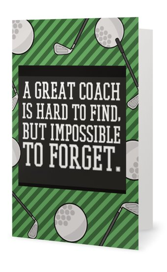 Golf Coach Card