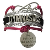 Girls Gymnastics Infinity Bracelet- 13 Colors - Sportybella