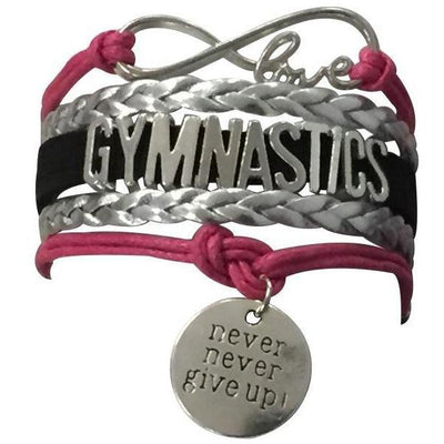 Girls Gymnastics Infinity Bracelet- 15 Colors - Sportybella