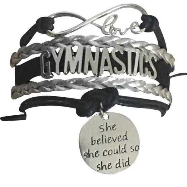 Gymnastics She Believed She Could So She Did Infinity Bracelet - Sportybella