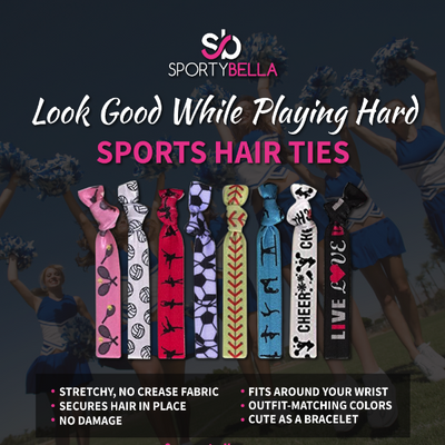 Basketball Hair Ties 2pc Set - Sportybella