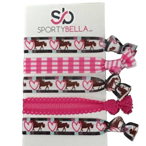Girls Horse Hair Ties - Sportybella