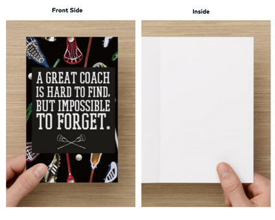 Lacrosse Coach Keychain & Card Bundle