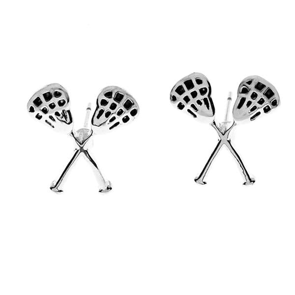 Girls Lacrosse Stick Earrings - Sportybella