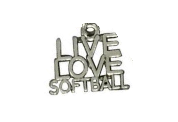 Live Love Softball Charm