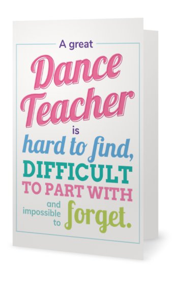 Dance Teacher Card - Sportybella