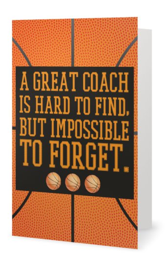 Basketball Coach Card - Sportybella