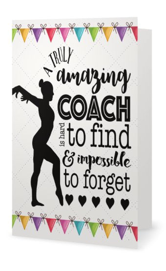 Gymnastics Coach Card