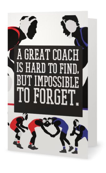 Wrestling Coach Card