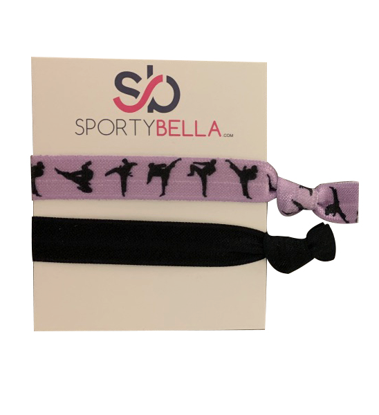 Martial Arts, Karate, Kickboxing, Self Defense No Crease Hair Ties- Purple