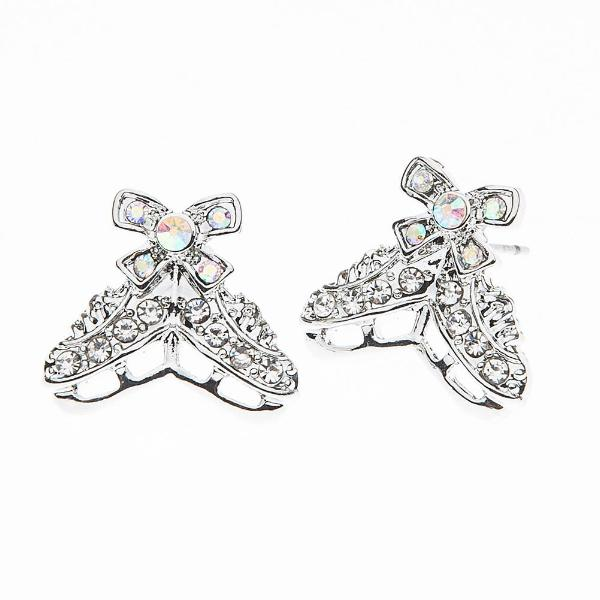 Figure Skating Rhinestone Earrings - Sportybella