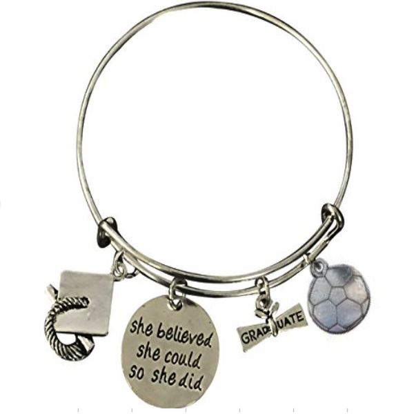 Graduation Soccer She Believed She Could So She Did Bracelet - Sportybella