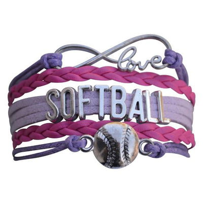 Girls Softball Bracelet- 19 Team Colors - Sportybella