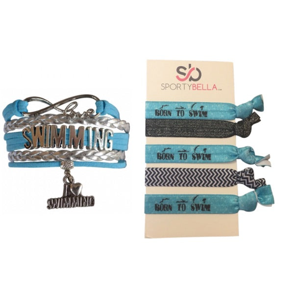 Swim Bracelet & Hair Ties Set
