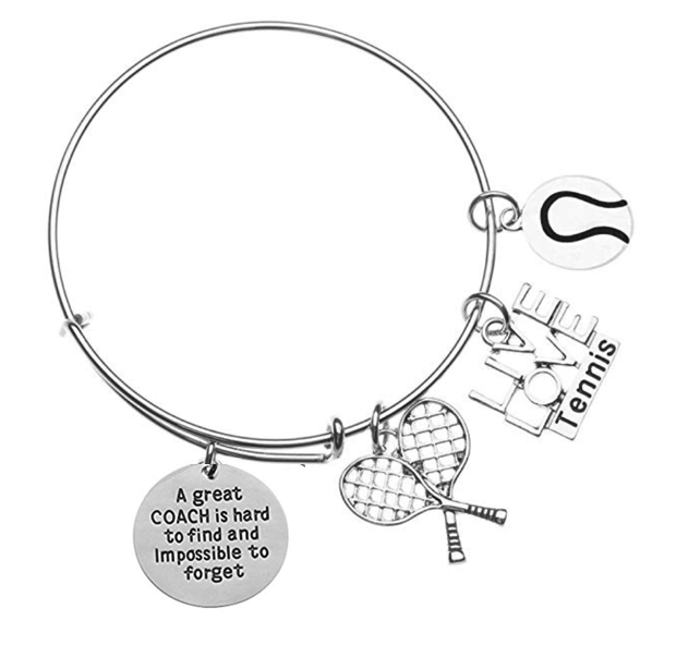 Tennis Coach Bangle Bracelet