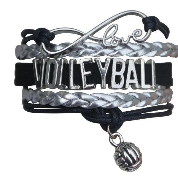 Girls Volleyball Infinity Bracelet-15 Team Colors - Sportybella