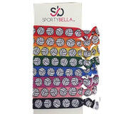 Volleyball Hair Ties Set- Multicolored - Sportybella