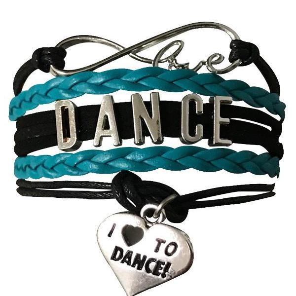 love dance bracelet teal