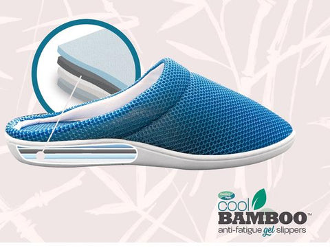 Footastic Shoes, le pantofole da esterno in bambù e gel anti-fatica