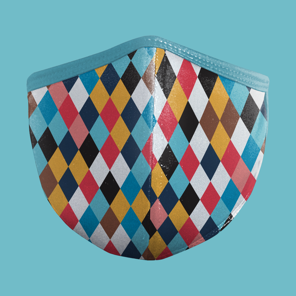 (Geometrics Series) HARLEQUIN Face Mask