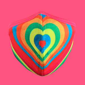 PSYCHEDELIC HEART Face Mask