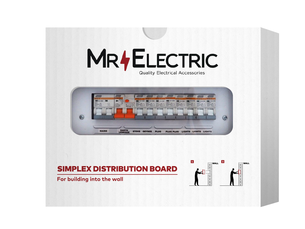 MR ELECTRIC PREPOPULATED EXTENDED FLUSH DISTRIBUTION BOARD