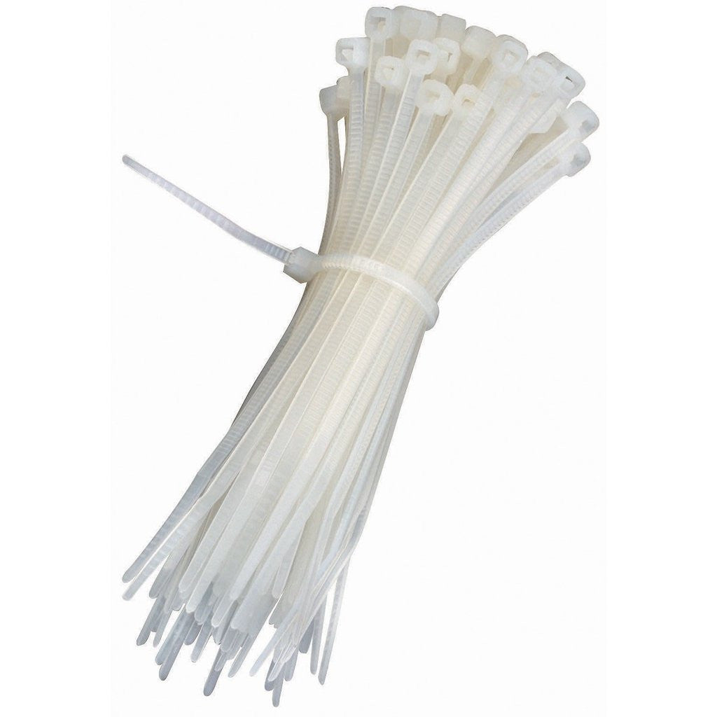 MR ELECTRIC CABLE TIES T18R 100MM WHITE