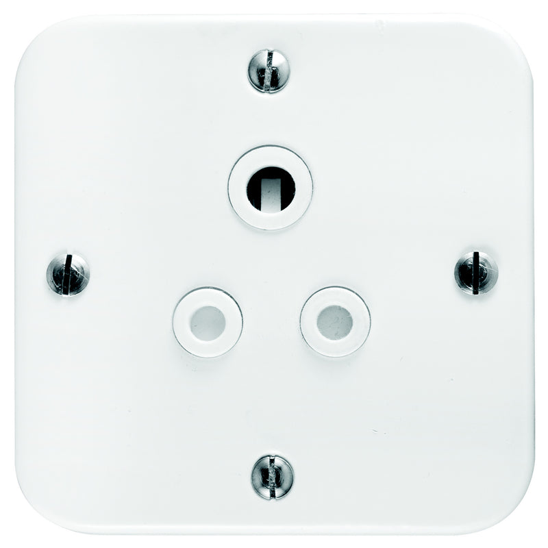 CRABTREE INDUSTRIAL 6A SINGLE SOCKET + COVER 75X75