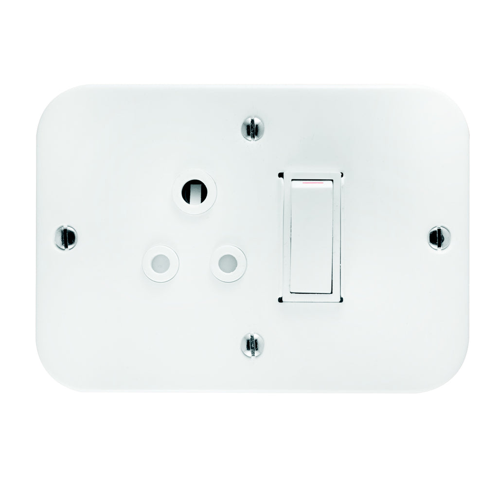 CRABTREE INDUSTRIAL SINGLE SOCKET METAL SURFACE BOX